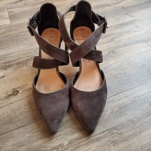 Sole Society Tamra Charcoal Gray Suede Pump - 8